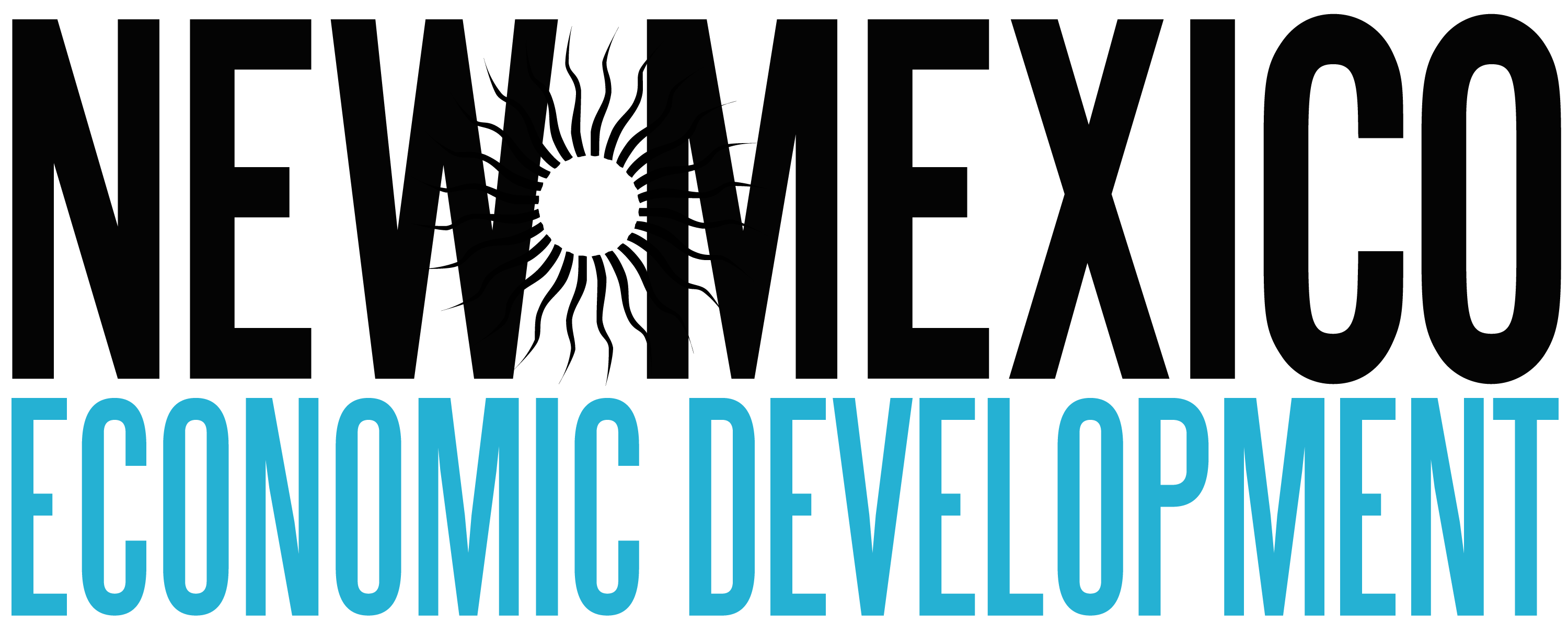 """Sign saying """"New Mexico Economic Development"""" for job opportunities for those moving in from out of state."""